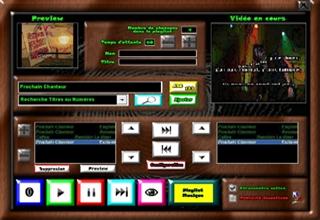 Thème Acajou logiciel karaoké professionnel karaplayer