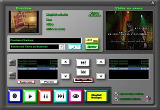 Thème grey logiciel karaoké professionnel karaplayer