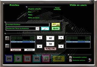 Thème Titane logiciel karaoké professionnel karaplayer